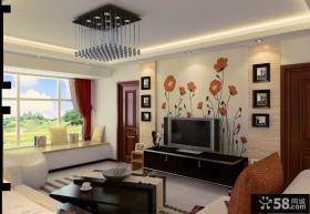 客厅手绘电视背景墙