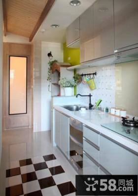 美式风格厨房室内家居装修效果图
