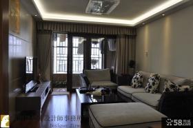 简约中式客厅电视背景墙设计