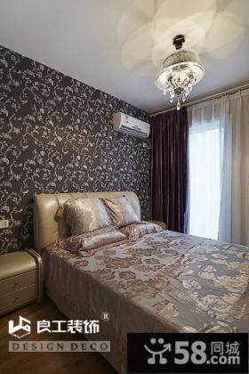 现代风格三居卧室精美壁纸图片