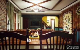 美式客厅电视背景墙效果图图片