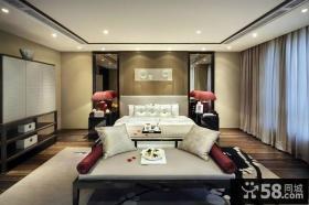 中式别墅样板房卧室装修效果图