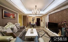 欧式4平米客厅吊顶图