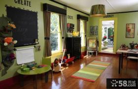 美式风格装修儿童房图片