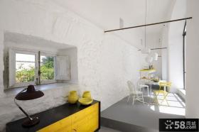 将复古与现代糅合的别墅简欧餐厅吊顶装修效果图大全