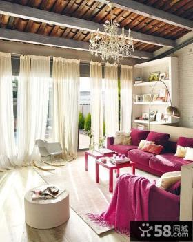两室一厅婚房装修 客厅吊顶装修效果图