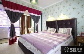 美式风格壁纸儿童房窗帘图片