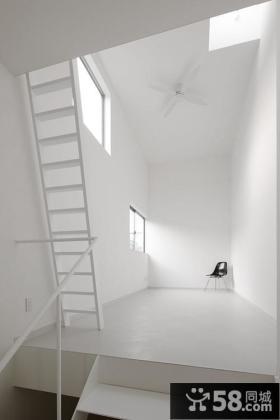 简约阁楼楼梯装修效果图