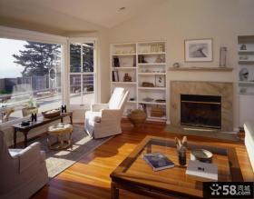美式飘窗装修效果图 客厅阳台改飘窗装修效果图