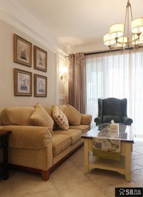 时尚美式家居客厅装修图片欣赏