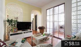 60平的老房改造客厅电视背景墙装修效果图