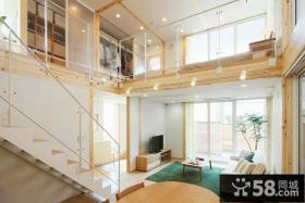 日式复式家居中空客厅装修设计
