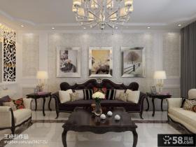 客厅沙发挂画背景墙装修效果图欣赏