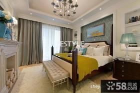 欧式别墅主卧室床头背景墙装饰设计图