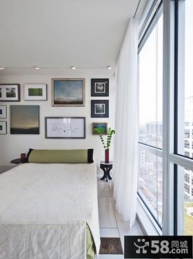 简约室内卧室相片墙设计效果图