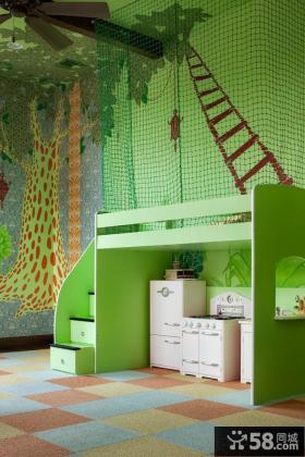 多功能儿童房墙体彩绘效果图片