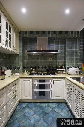 欧式风格厨房瓷砖效果图大全