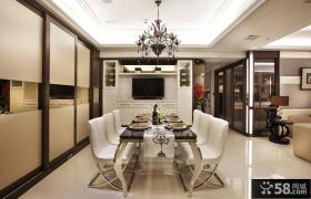 现代家庭三室两厅装修餐厅效果图大全