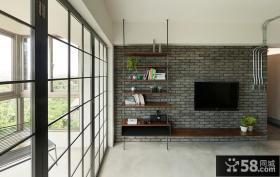 后现代风格电视背景墙设计效果图欣赏