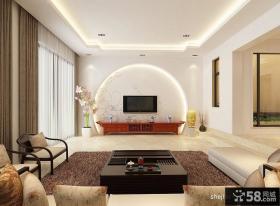 新中式客厅电视背景墙效果图大全2013图片