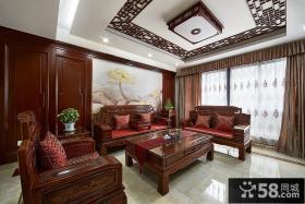 古典儒雅中式客厅设计装修