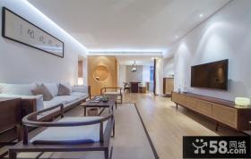 简约中式风格家庭客厅装修效果图