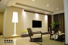 家装优质客厅瓷砖电视墙效果图