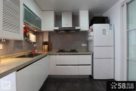 简约整体厨房橱柜效果图