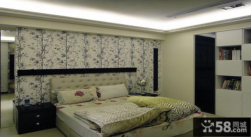 简欧床头背景墙装修效果图图片