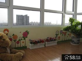 阳台彩绘壁画装修效果图
