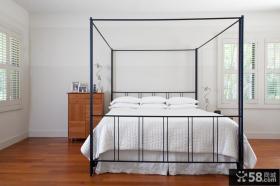 简约风格主卧室装修效果图大全2012图片 欧式简约卧室床头柜装修效果图