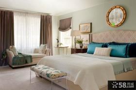 欧式卧室窗帘装修设计图
