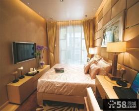 小卧室床电视机背景墙效果图