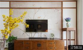 中式简约电视背景墙设计效果图片