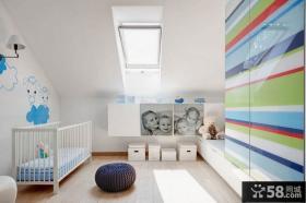 复式斜顶阁楼儿童房设计图