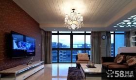 客厅壁纸电视背景墙装修效果图
