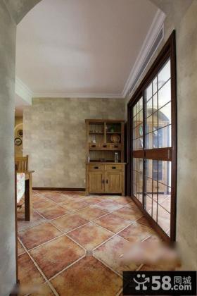 美式风格室内垭口地板装修设计