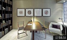 现代元素打造两房两厅书房装修效果图大全2014图片
