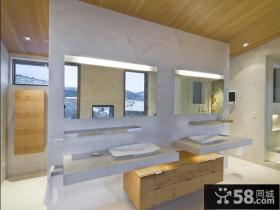 简欧时尚的复式楼卫生间装修效果图大全