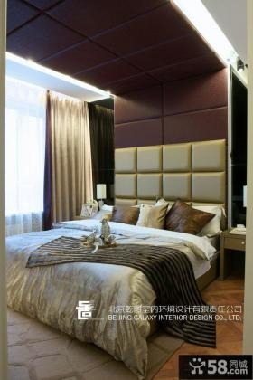 主卧室床头软包背景墙装修效果图