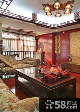 中式古典红木客厅装潢案例