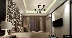 卧室电视背景墙家庭装修设计图
