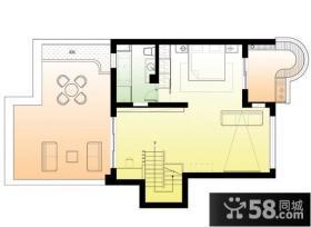 复式楼二楼平面图