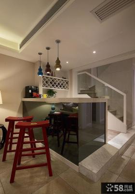 现代室内复式吧台装修效果图片