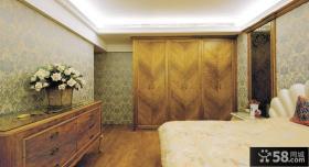 欧式卧室衣柜设计效果图