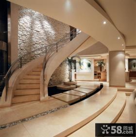 豪华别墅楼梯装修效果图片