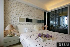 现代风格卧室液体背景墙效果图片欣赏