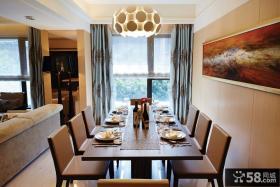 现代低调奢华别墅室内餐厅装修图片