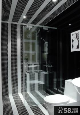 现代小卫生间瓷砖装修效果图