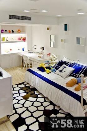 现代两室两厅儿童房间布置图片